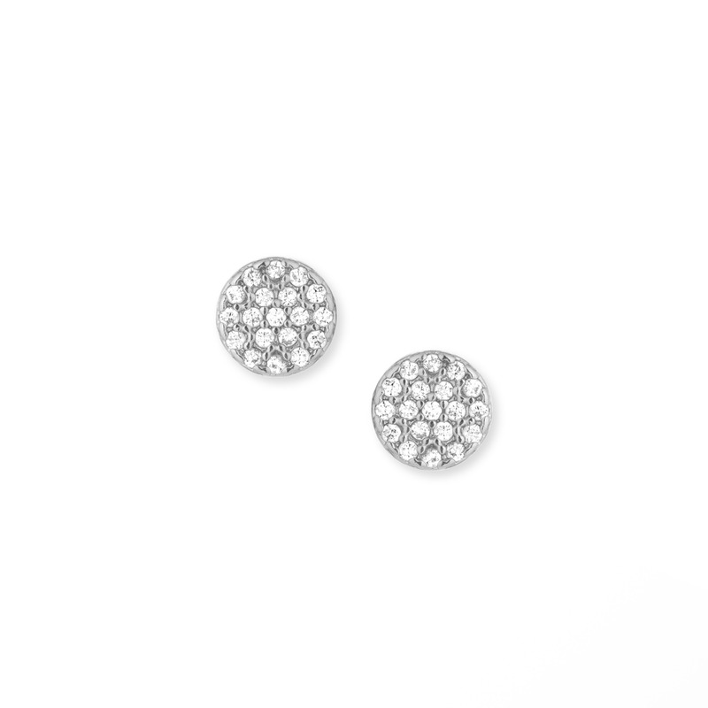 Sophie Harper Pavé Circle Studs in Silver