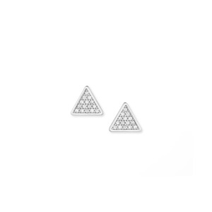 Sophie Harper Pavé Triangle Studs in Silver