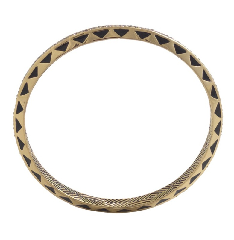 House of Harlow 1960 Spectrum Bangle in Black