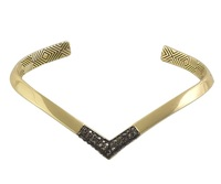 House of Harlow 1960 Defined Deco Angled Cuff in Hematite