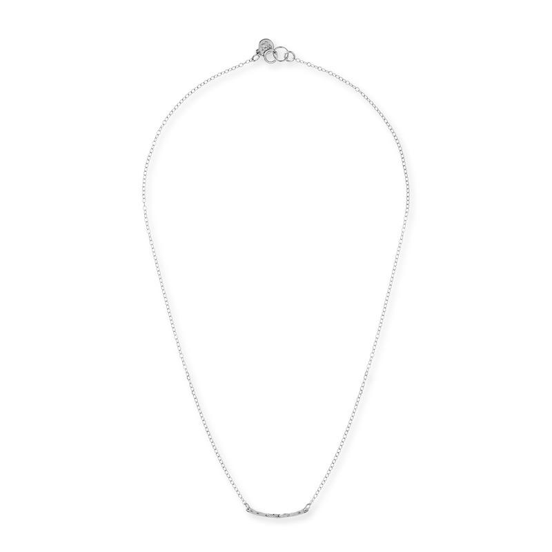 Gorjana Taner Bar Mini Necklace in Silver