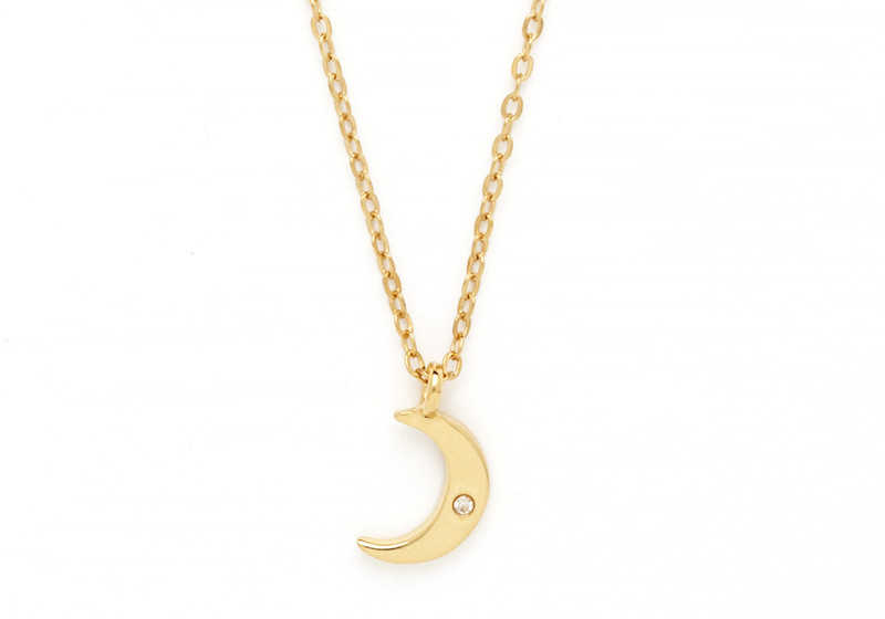 Cameron Rose Moon Charm Necklace