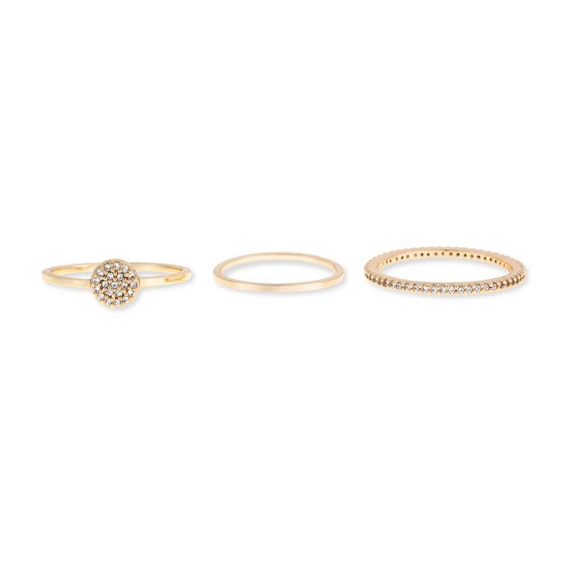 Sophie Harper Pavé Circle Ring Set