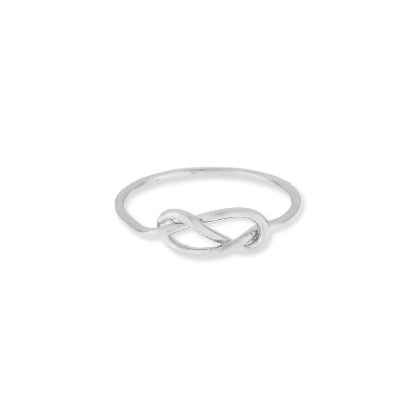 Wanderlust + Co Infinity-Pretzel Silver Ring