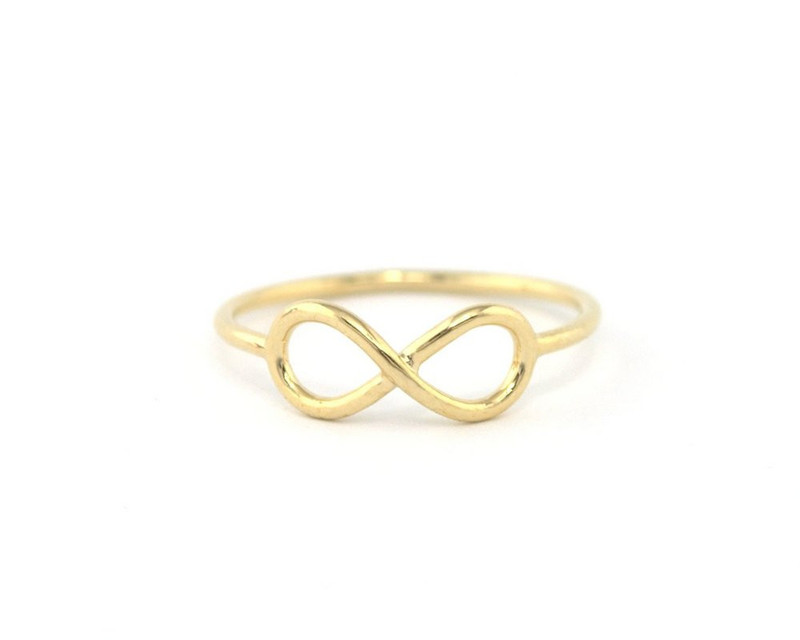 Wanderlust + Co Infinity Gold Ring