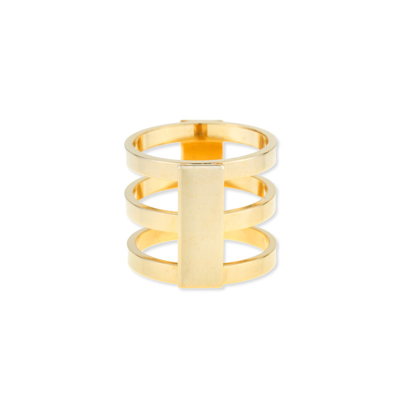 a.v. max Caged Ring in Gold