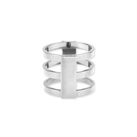 a.v. max Caged Ring in Silver