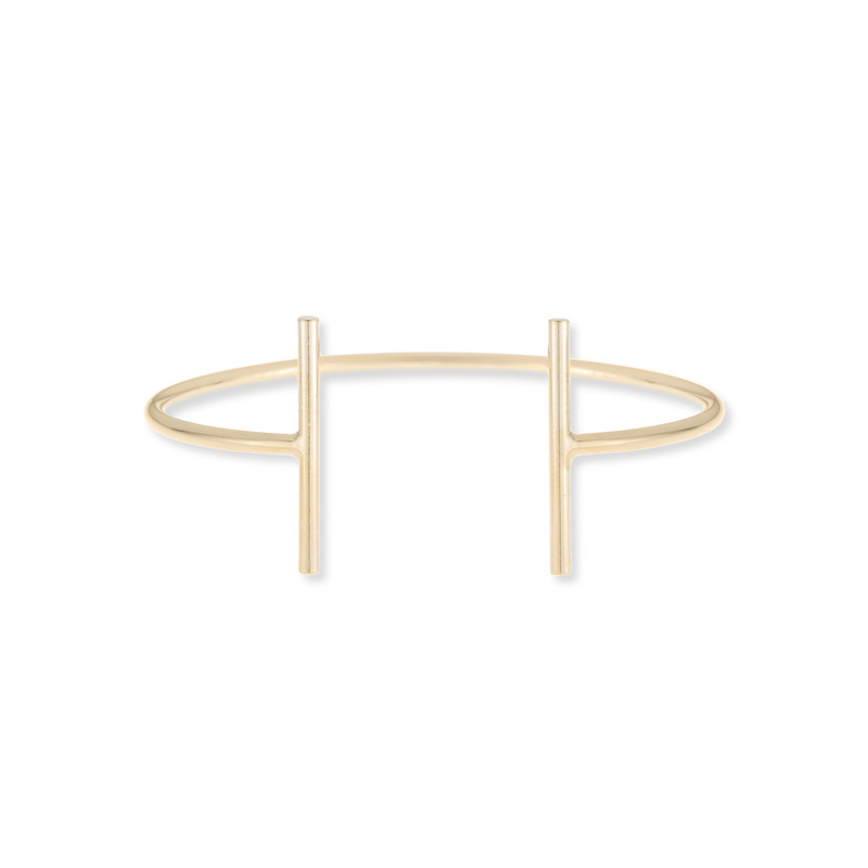 Jill Michael Gold T Bar Cuff