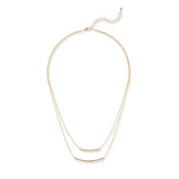 Jill Michael Double Bar Necklace in Gold