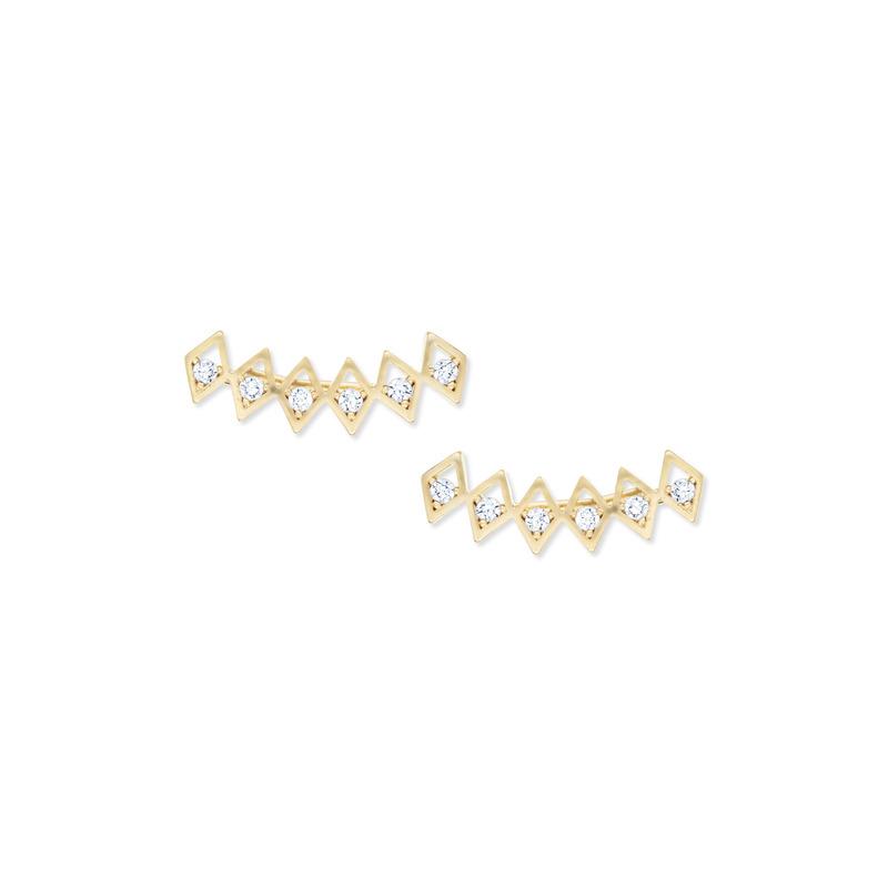Urban Gem Diamond Shimmer Ear Climbers