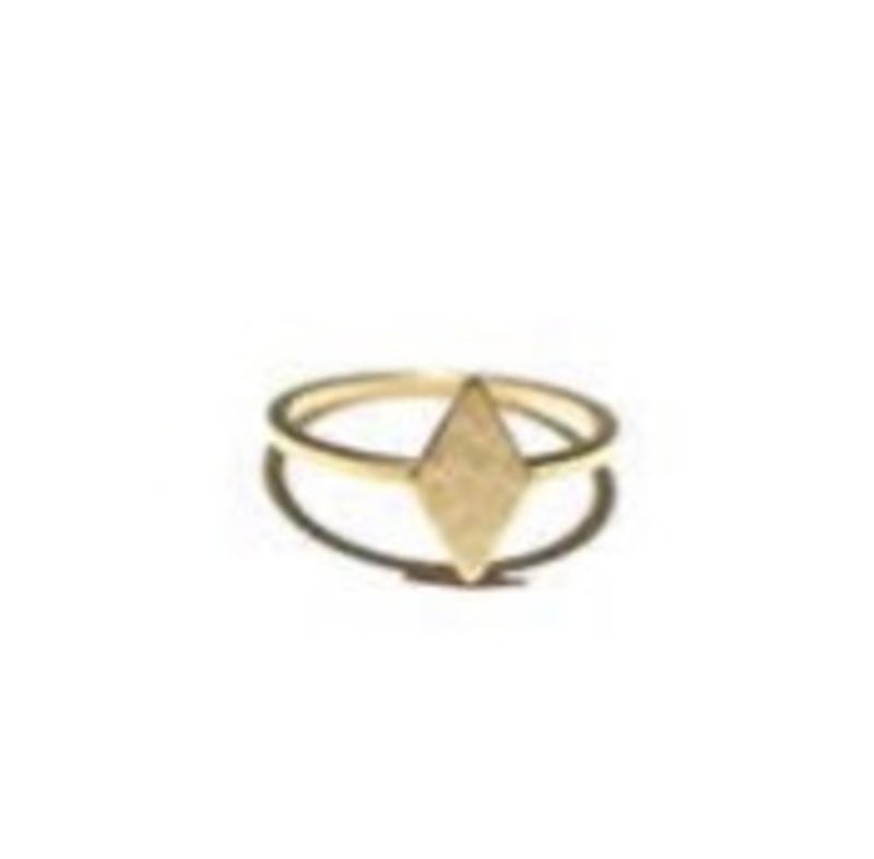ECRU Metal Diamond Shape Ring