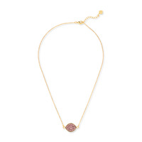 Elise M Iris Necklace in Rose Gold Druzy