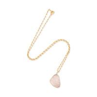 Elise M Zanzibar Necklace in Pink Druzy