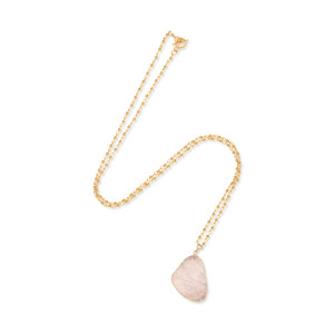 Elise M Zanzibar Necklace in Pink Druzy