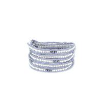 Nakamol Five Times Dark Grey & Silver Wrap Bracelet