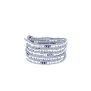 Nakamol Five Times Dark Grey & Silver Wrap Bracelet