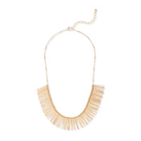 Urban Gem Fringe Collar Necklace