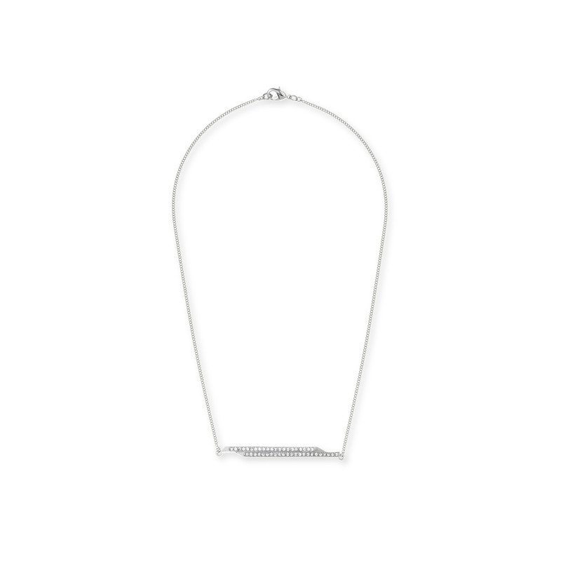 CC Skye Jagged Edge Necklace in Silver