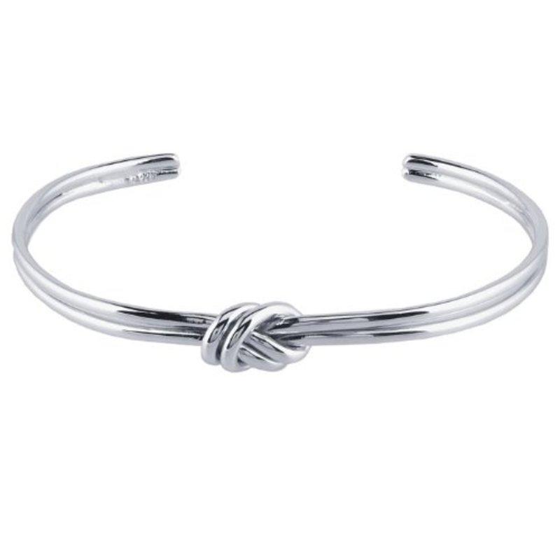 Jill Michael Knot Center Cuff in Silver