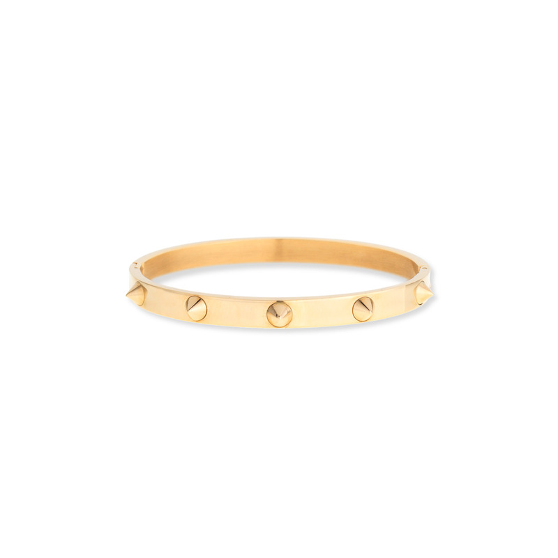 Wanderlust + Co Multi-Stud Gold Bangle