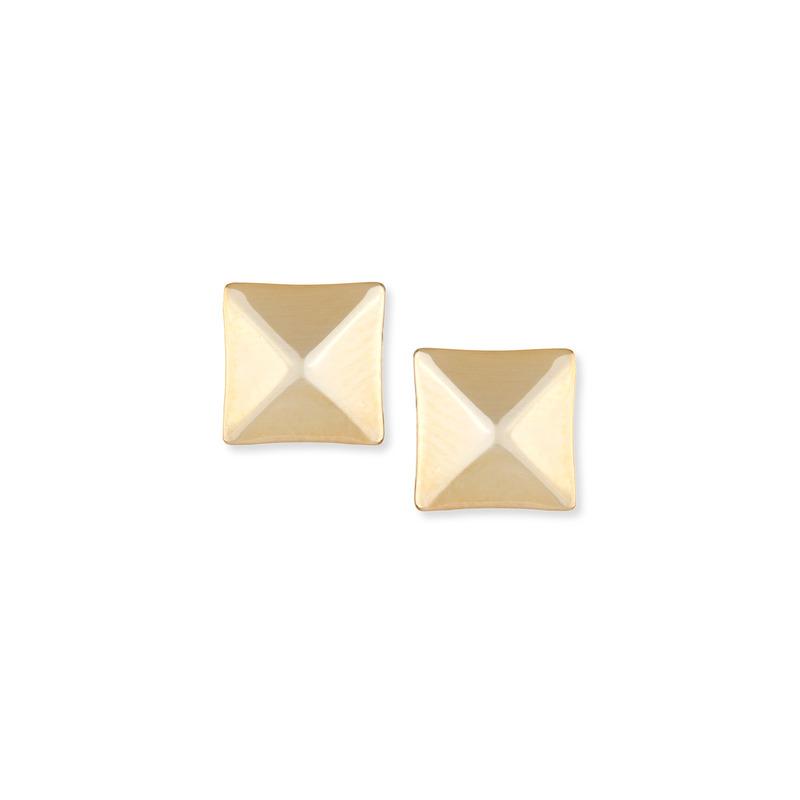 a.v. max Gold Square Studs