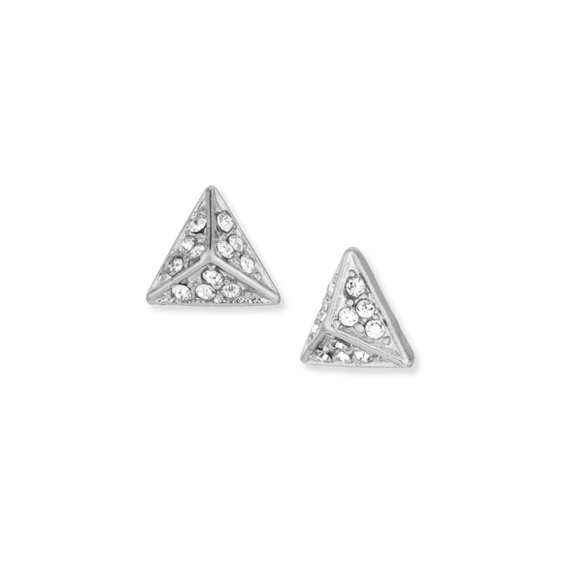 a.v. max Rhinestone Point Post Earring in Silver