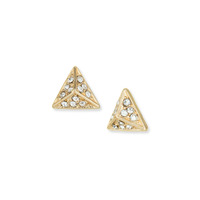 a.v. max Rhinestone Point Post Earring in Gold