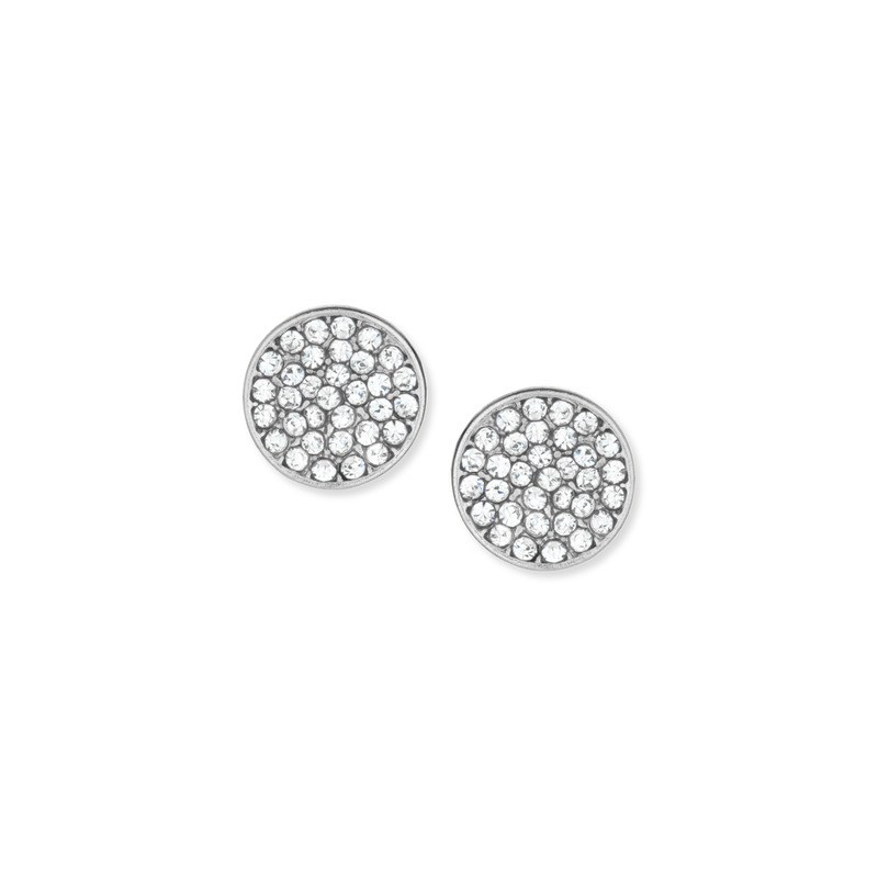 a.v. max Rhinestone Disc Post Earrings in Silver