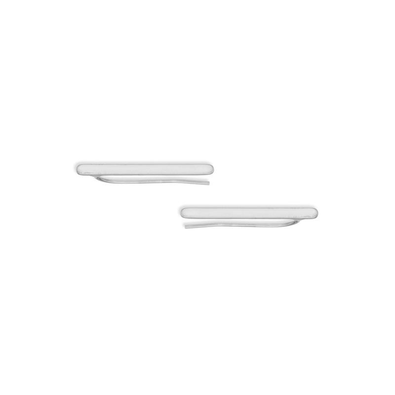 a.v. max Metal Bar Ear Climber in Silver