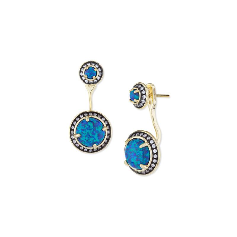 Kendra Scott Camilla Ear Jacket in Blue Kyocera Opal
