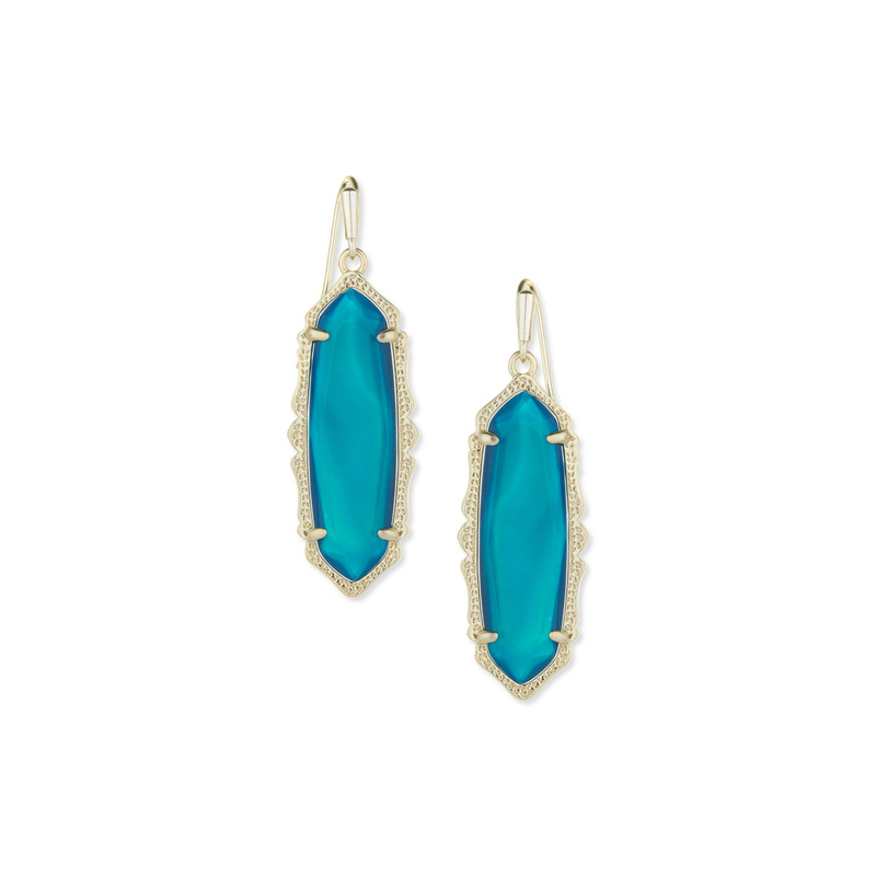 Kendra Scott Fran Earring in Teal Agate