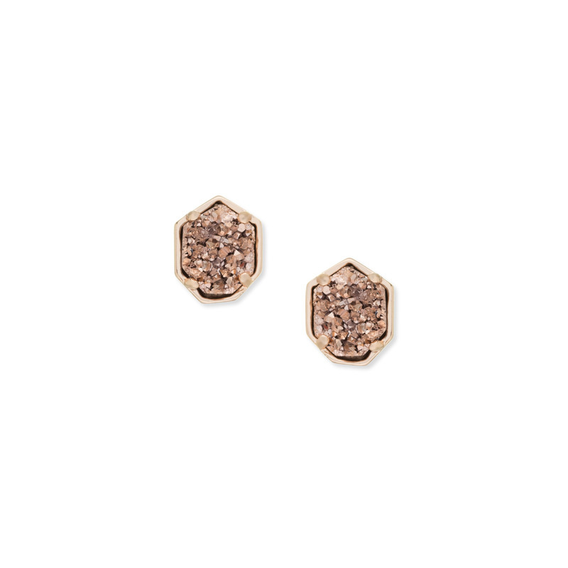 Kendra Scott Logan Earring in Rose Gold Drusy