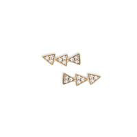 Melinda Maria Cece Triangle Stud Earrings