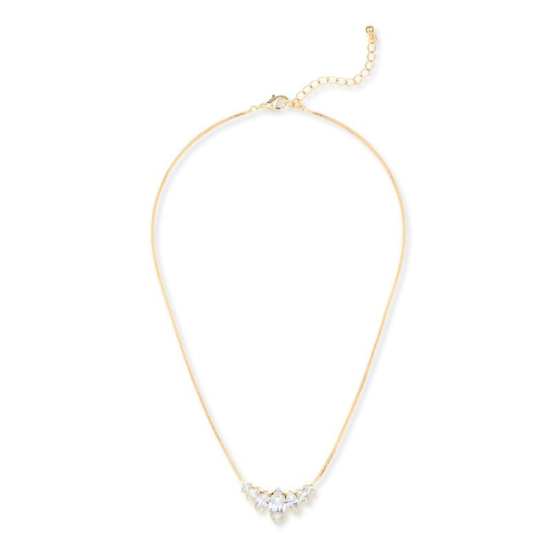 Sharp 9 Flower Cluster Necklace