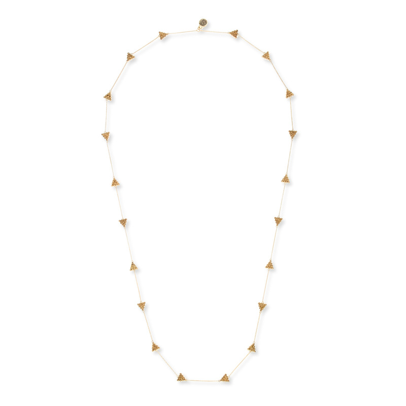 House of Harlow 1960 Cerro Torre Station Necklace in Gold