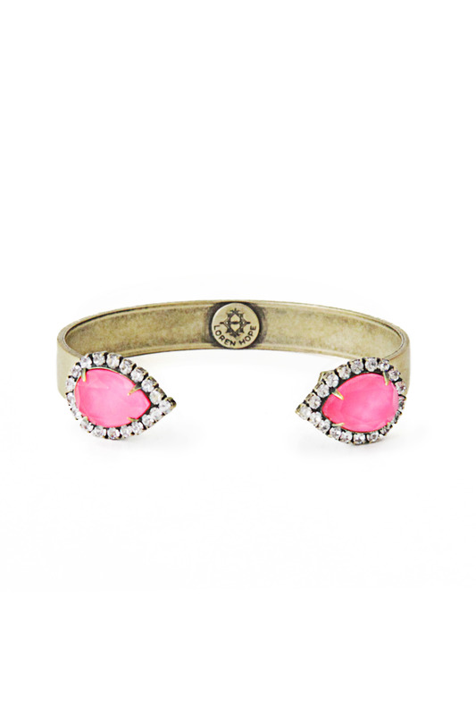 Loren Hope Small Sarra Cuff in Neon Pink