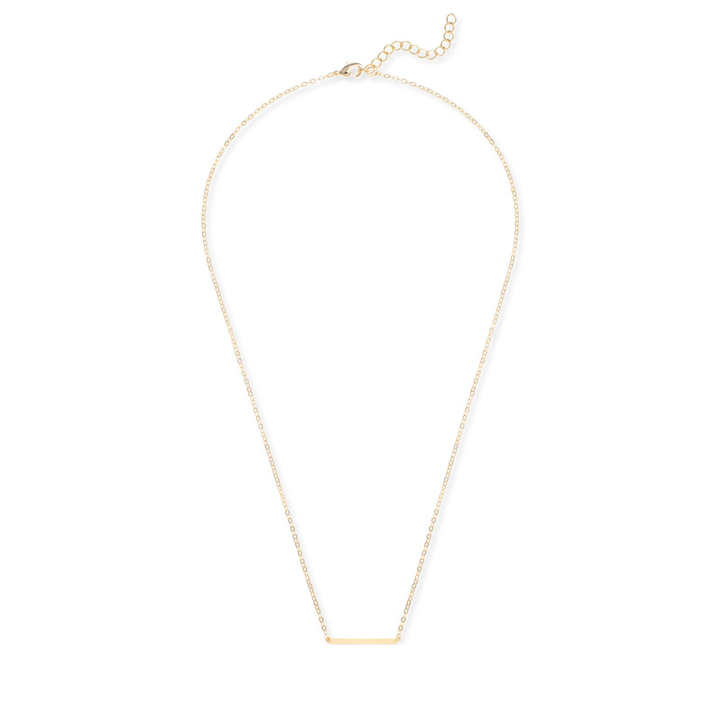 Jill Michael Delicate Bar Necklace in Gold