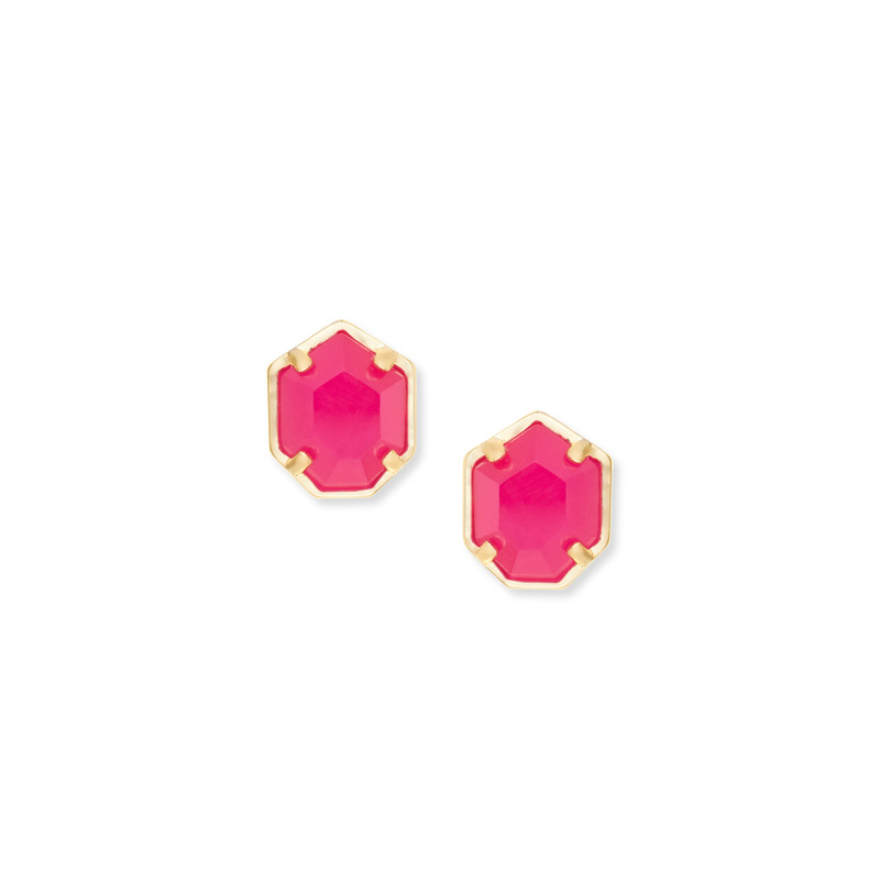 Kendra Scott Logan Earring in Pink Agate