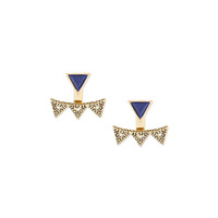 House of Harlow 1960 Cerro Torre Ear Jacket in Gold & Lapis