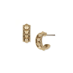 House of Harlow 1960 Huaca Pyramids Huggie Hoop Earrings in Gold