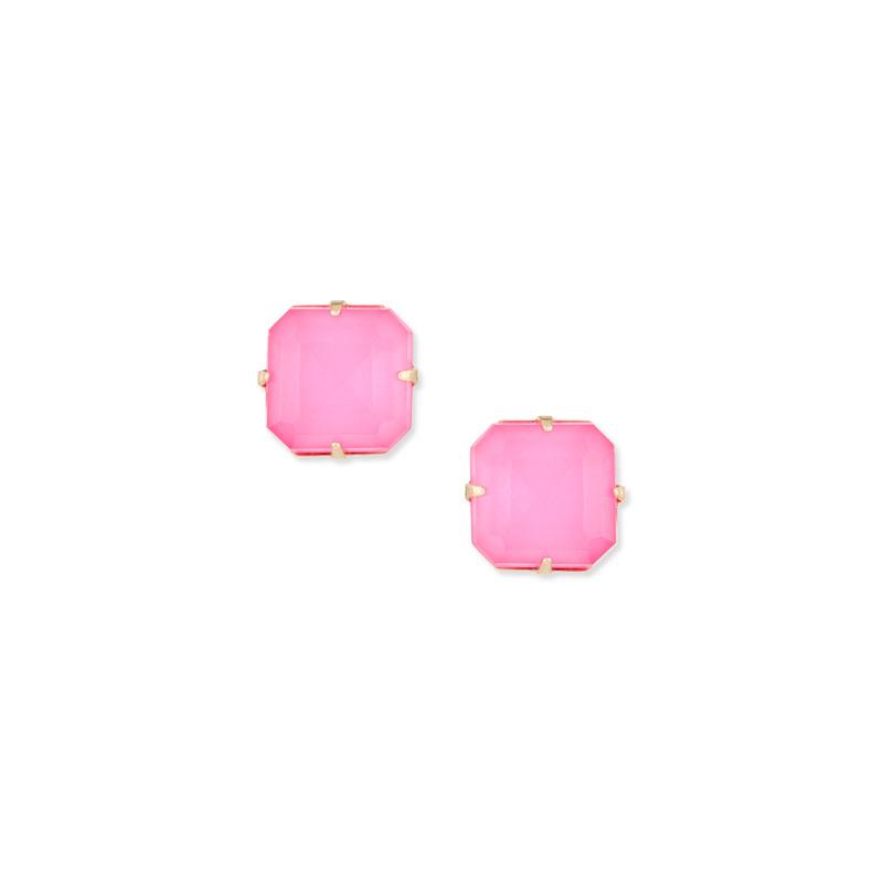 Loren Hope Sophia Studs in Neon Pink