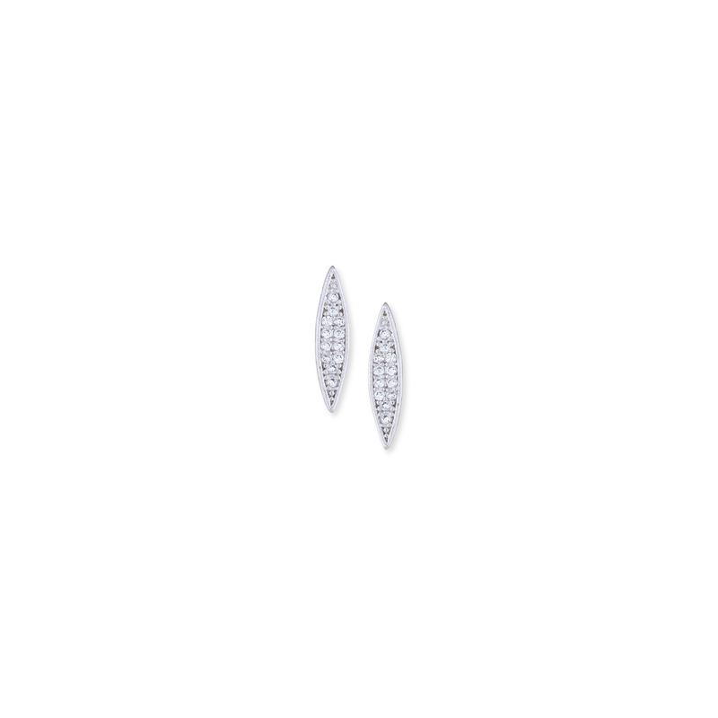 Sophie Harper Pavé Dagger Studs in Silver