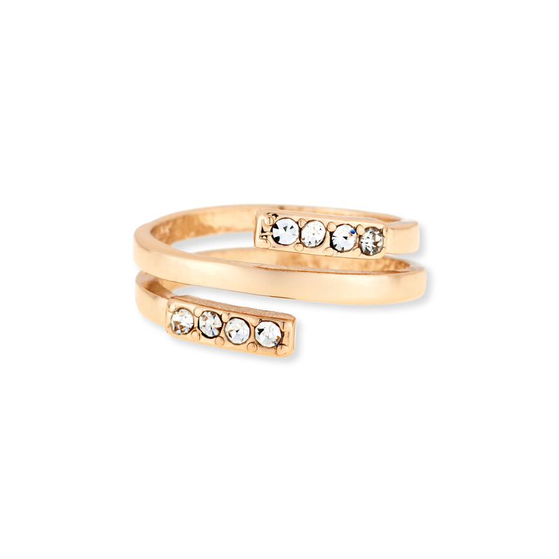 Sophie Harper Pavé Spiral Ring in Gold