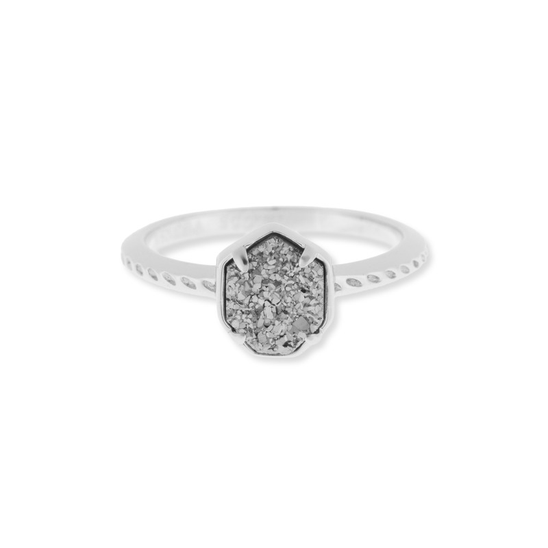 Kendra Scott Calvin Ring in Platinum  Drusy