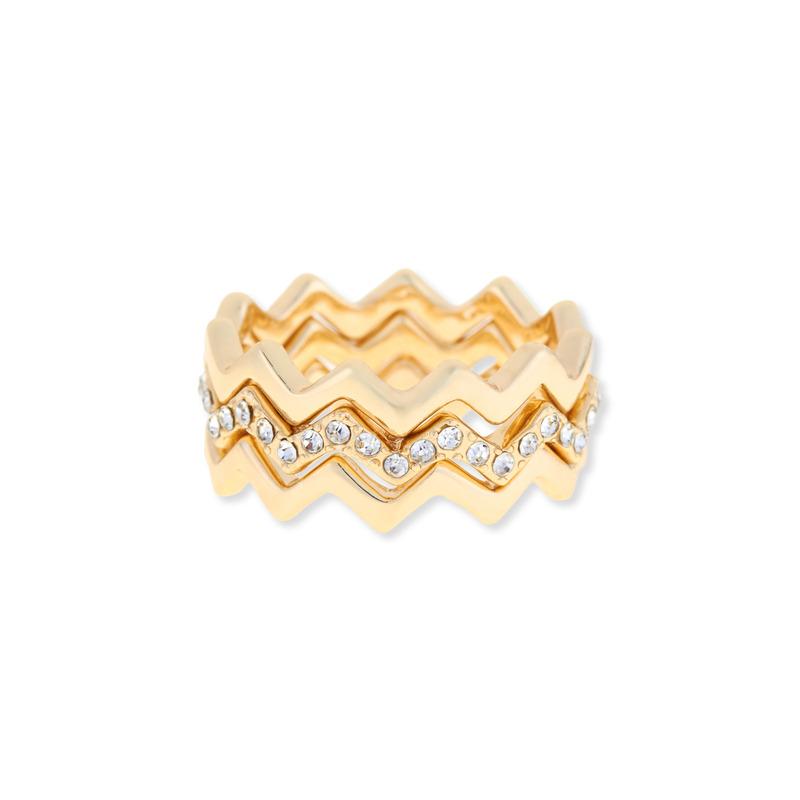 Sophie Harper Zigzag Ring Set