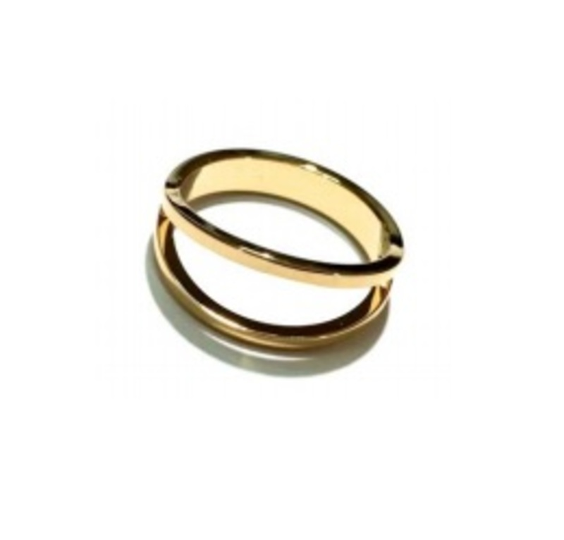 ECRU Metal Double Ring in Gold