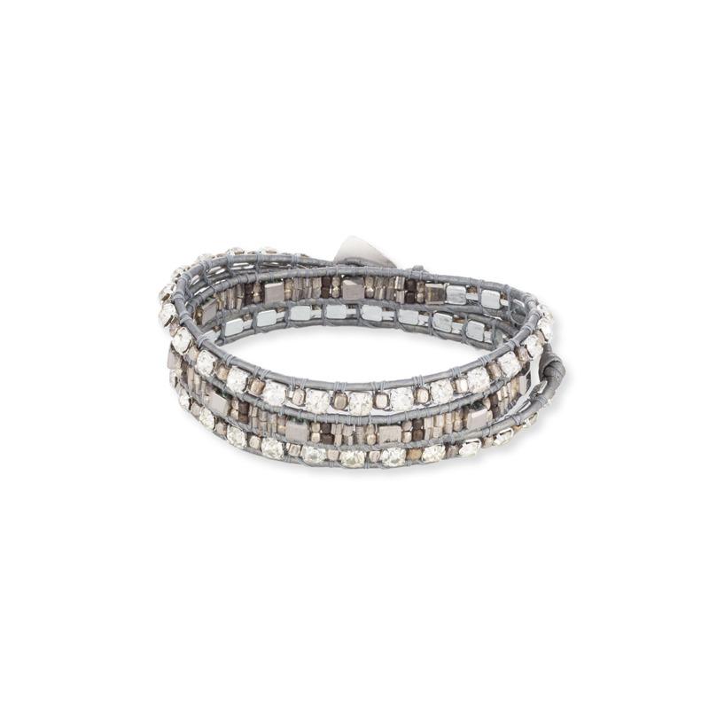 Nakamol Grey & Silver Wrap Bracelet