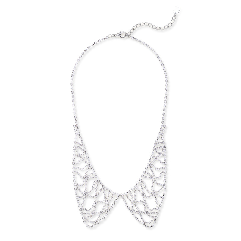 Sharp 9 Crystal Collar Necklace