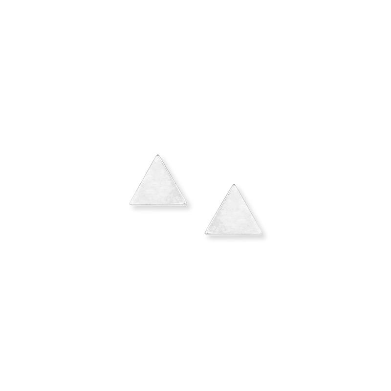 Kris Nations Triangle Stud Earrings in Silver