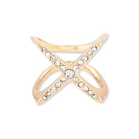 Perry Street Crystal X Ring